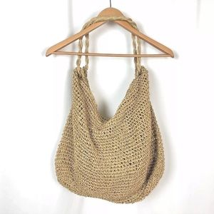 Paper Straw Market Tote Bag in Natural